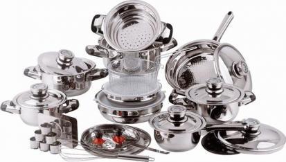 Utensilios de cocina acero inoxidable for Utensilios de cocina de aluminio